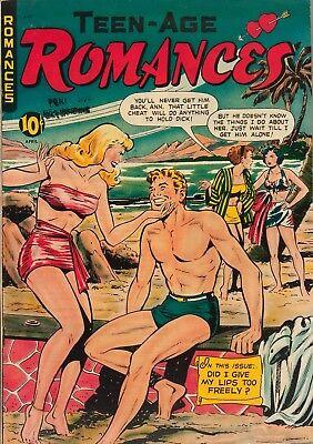 Teen-Age Romances #9 Photocopy Comic Book, Matt Baker, Joe Kubert Art