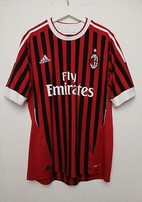 AC Milan 2011/2012 Home Shirt Maglia Jersey Adidas Sz L