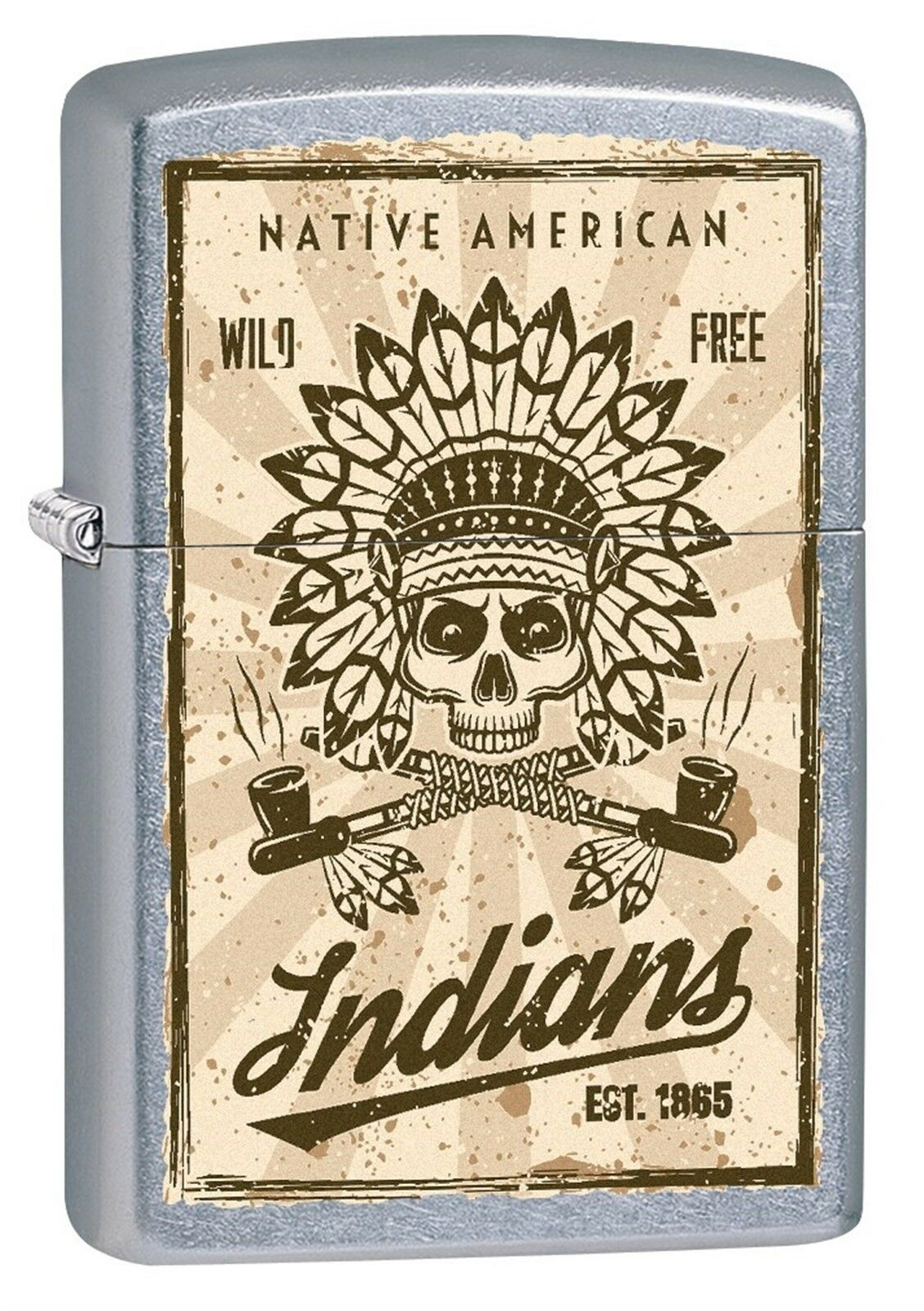 Zippo Lighter: Native American Indians - Street Chrome 79038