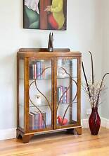 Antique Vintage Astragal Glass Display Case Cabinet / Bookcase Williamstown Hobsons Bay Area Preview