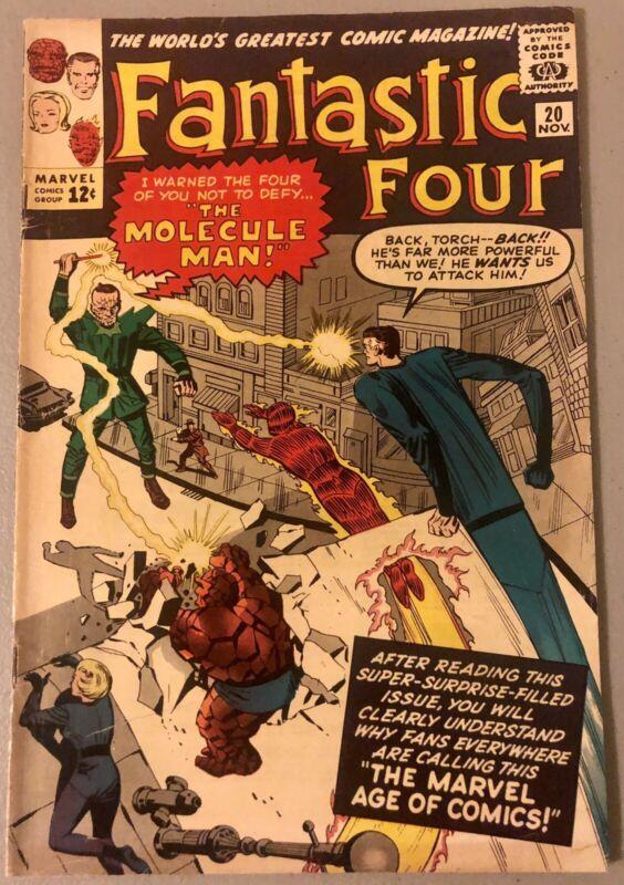 Fantastic Four #20 (1st Appearance Molecule Man) VG/F