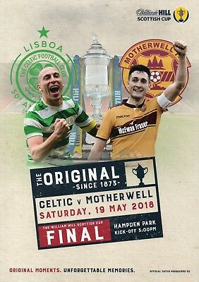 Celtic v Motherwell - Scottish Cup Final - 19 May 2018 - FROM GLASGOW SUPPLIER.