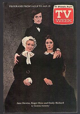 1983 PHILADELPHIA INQUIRER TV WEEK GUIDE~NICHOLAS NICKLEBY~JANE DOWNS~ROGER REES