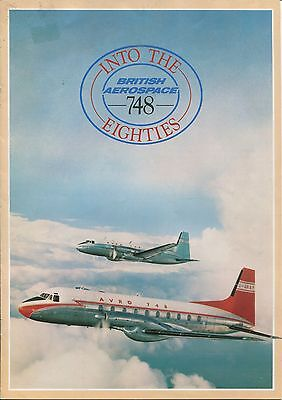 BRITISH AEROSPACE 748 MANUFACTURERS SALES BROCHURE INTO THE EIGHTIES