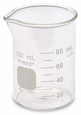 Corning Pyrex 1000 Griffin Low Form Glass Beaker 100ml - Single