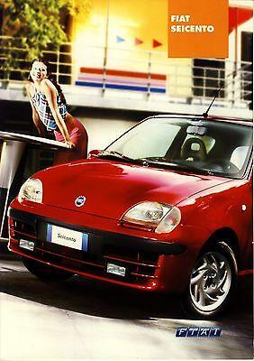 Używany, Fiat Seicento 10 / 2000 catalogue brochure na sprzedaż  Polska