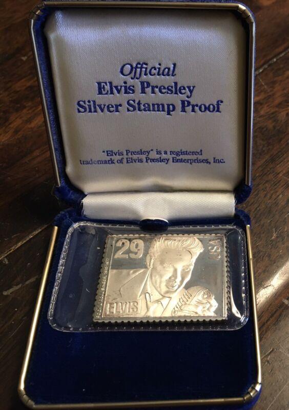 Elvis Presley Commemorative Silver Proof Stamp (1992) USPS LIMITED EDITION