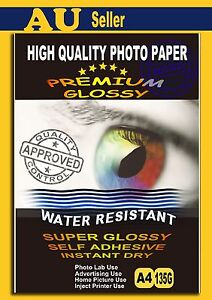 A4  Premium Glossy Photo Paper Water Resistant Self Adhesive Sticker Paper