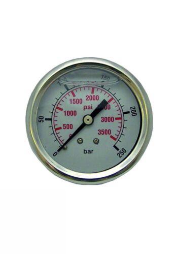 Pressure Washer Pressure Gauge 0-250 Bar 3600 Psi S/S Body Glycerine Filled