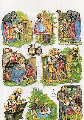 1 Bogen Glanzbilder Poesie Scraps Märchen ef 7025 Nr.725