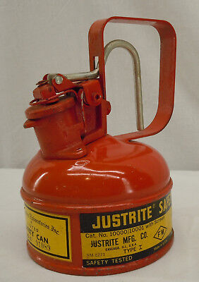 Justrite 1 Pint Safety Can Type I With Screen 10000 10001