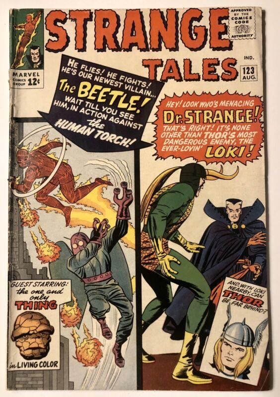 Strange Tales #123  (1st App Beetle) - VG