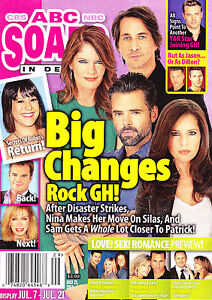 Michelle Stafford Jason Thompson Brandon Barash July 21, 2014 ABC Soaps in Depth