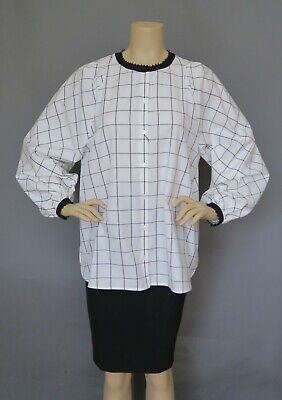 New and Authentic Max Mara  Weekend White Cotton  Blouse, Size  8, MSRP  (Max Mara Women)
