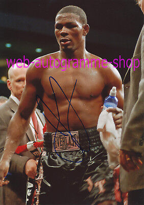 JERMAIN TAYLOR - USA - SIGNED IN PERSON AUTOGRAMM AUTOGRAPH 20 x 28 CM  CHAMPION