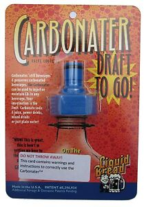 CARBONATOR CAP BOTTLE HOME BREW BEER SODA CO2 CARBON DIOXIDE CARBONATER DIY