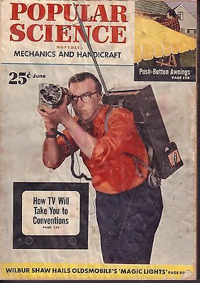 Popular Science Magazine June 1952 Conventions Tv 072717Nonjhe