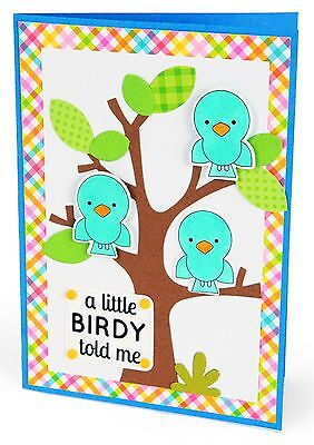 Sizzix Framelits A Little Birdy Told Me Set  660397 Retail  14 99 4 Pk   Stamps