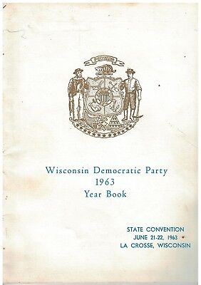 1963 Wisconsin Democratic Party Year Book