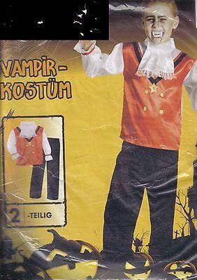 �e S 4-6Jahre Jungen Fasching / Halloween Kostüm neu (Vampir Jungen Kostüm)