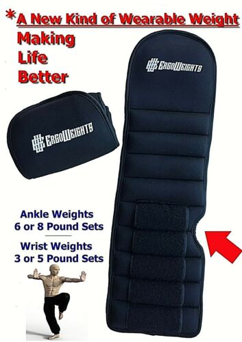 New Patented Design Ankle Weights Wrist Weights for Men & Women 3LB, 5LB 6LB 8LB