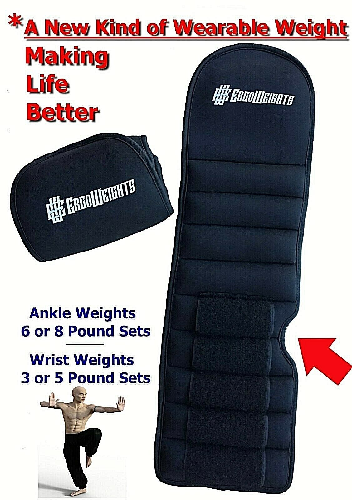 new patented design ankle weights wrist weights