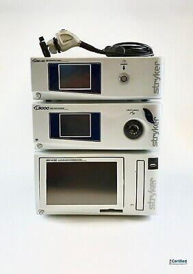 Stryker 1288 Hd Camera System L9000 Led Light Source Sdc Ultra 1288010000