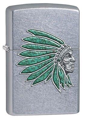 Zippo Lighter: Indian Head - Street Chrome 76515