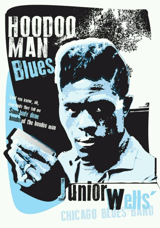 Junior wells chicago blues poster specially designed print