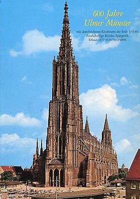 Alte Postkarte -  600 Jahre Ulmer Münster