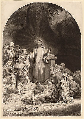 Rembrandt Reproduction: Christ Preaching and Healing the Sick: Fine Art Print