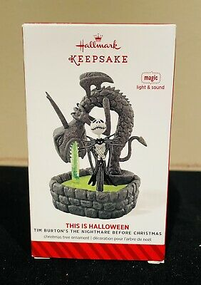 Hallmark Jack Nightmare Before Christmas This is Halloween Ornament Lights Sound