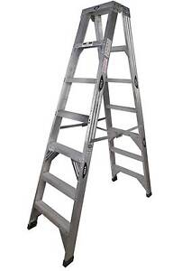 TRADESMAN 6 STEP DOUBLE SIDED ALUMINIUM LADDER - 2.04M 150KG LOAD Kogarah Rockdale Area Preview