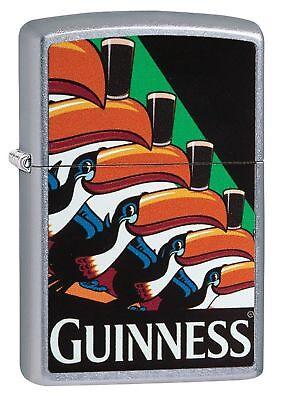 Zippo Windproof Street Chrome Guinness Beer Toucan Lighter, 29647, New In Box