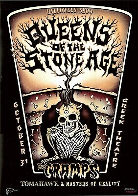 MINT & SIGNED EMEK Queens Of The Stone Age Cramps LA HALLOWEEN Poster](Queen Of Halloween Sign)