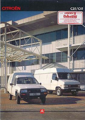 Citroen C25 C15 Van 1991 Original UK Market Sales Brochure