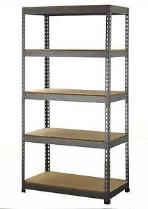 5 Tier Boltless Industrial Racking Garage Shelving Storage Shelve Heavy Duty x1