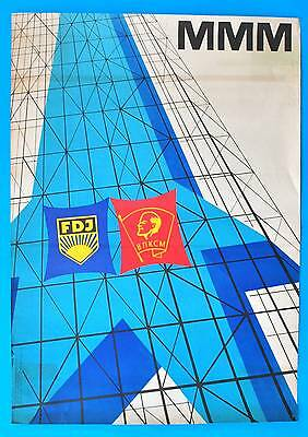 DDR Plakat Poster 940 | MMM FDJ 1975 Messe Meister Morgen | 81 x 58 cm Original