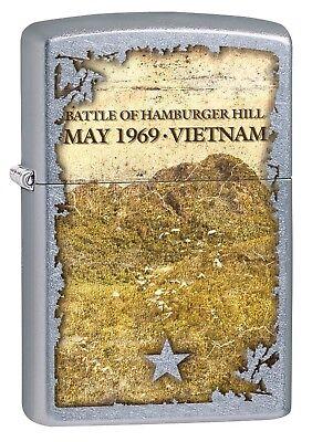 Zippo Lighter: Vietnam War, Battle of Hamburger Hill - Street Chrome 77328