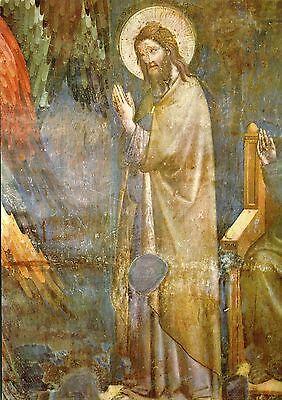 Alte Kunstpostkarte - Pietro Cavallini - Jüngstes Gericht -Hl. Giovanni Battista