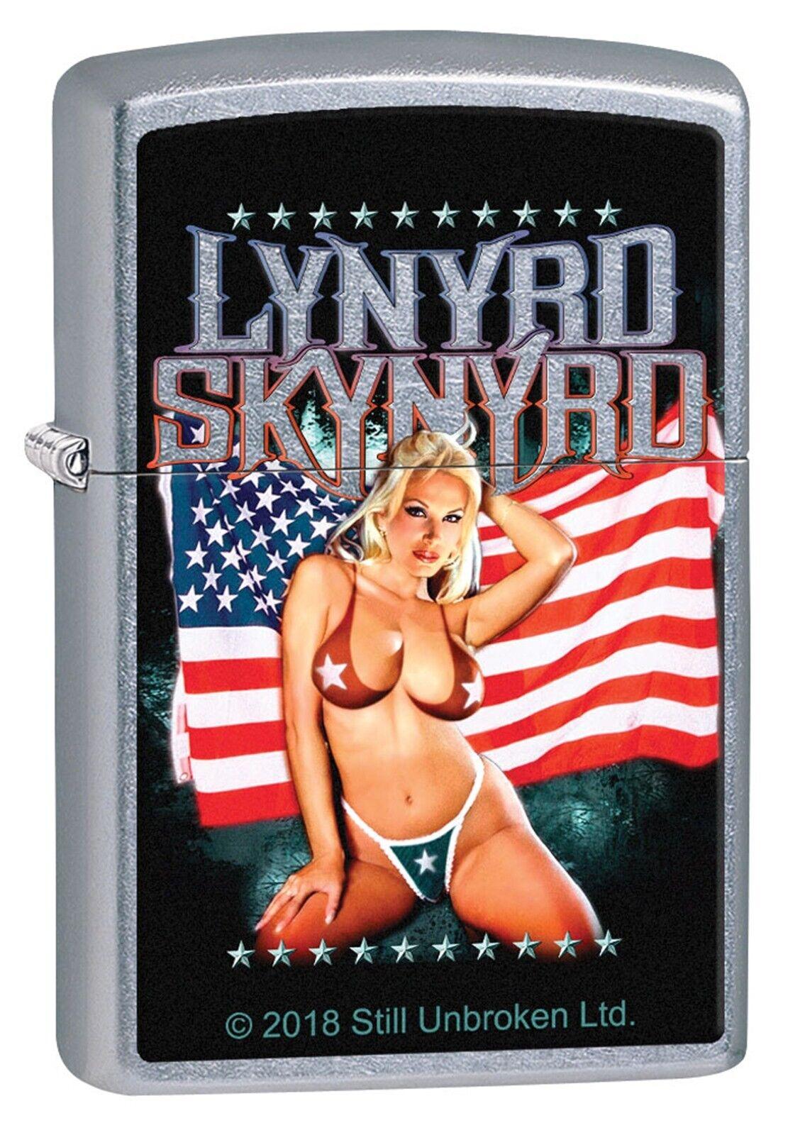 Zippo Lighter: Lynyrd Skynyrd Bikini Girl & American Flag -