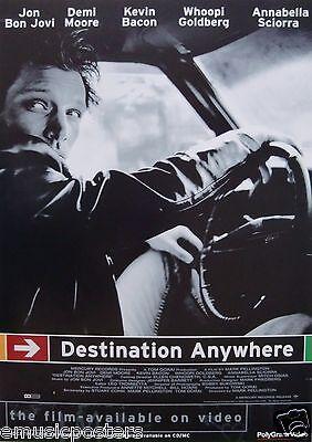 Bon Jovi  Destination Anywhere  U K   Video Promo Poster   Jon Driving Car