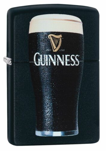 Zippo Windproof Lighter With Guinness Beer Logo, 29649, New In Box