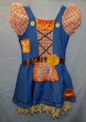 Cute Scarecrow Costume (Scarecrow Costume Girls M Halloween  8 10 Cute Country Girl Wizard of)