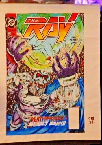 THE RAY #13 THE COVER +3M & ALL 24 INTERIOR PAGES COLORGUIDE PRODUCTION ART-1995