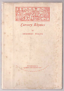 Humbert-Wolfe-Cursory-Rhymes-Signed-Limited-Edition-of-500-1st-Ed-1927
