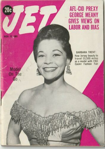 VTG Nov 1961 Jet Magazine Civil Rights Era Equality Black History Barbara Trent