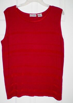 16W Fashion Bug Red Knit Stretch Top Shell Year Round Washable NWOTS
