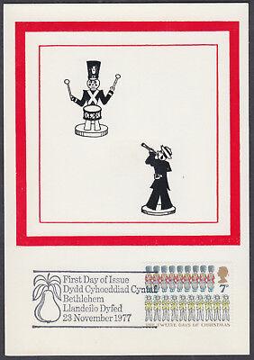 1977 Christmas scarce 7p Historic Relics Maximum Card 'FDC'; Bethlehem SHS; D