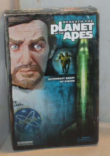 "Beneath the Plant of the Apes Astronaut Brent Sideshow Toys POTA 12"" Figure w/Bo"